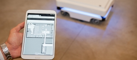 MiR100 is an efficient and user-friendly mobile robot for the automation of internal transport and logistics solutions
